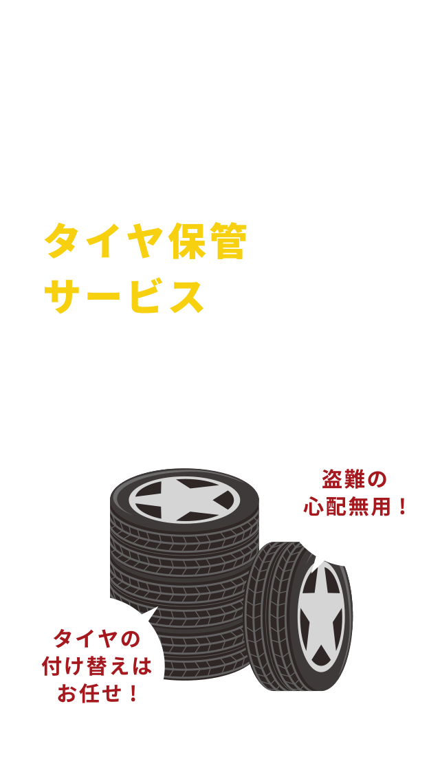 タイヤ保管サービス 詳しくはこちら